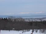天都山から見た流氷